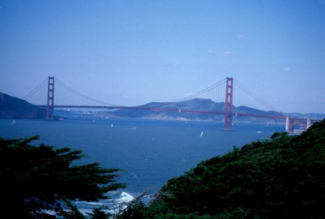 The Golden Gate Bridge marking the entrance to the San Francisco Bay estuary, one of the world's great estuaries. Picture