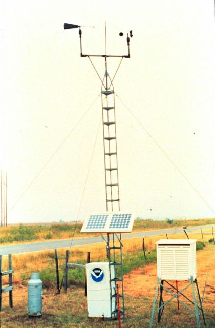 A solar-powered Surface Automated Measurement (SAM) site Picture