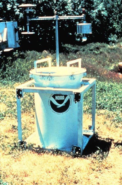 During the early 1980s, NSSL and University of Oklahoma researchers place TOTO (TOtable Tornado Observatory) in the path of an on-coming tornado Picture