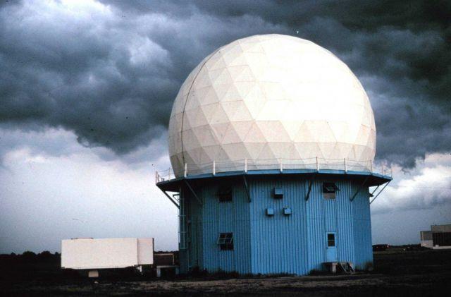 Norman Doppler Radar installation. Picture