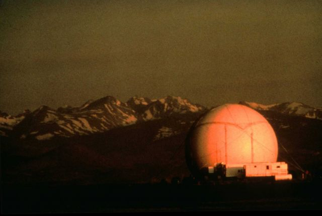 Doppler radar dome. Picture