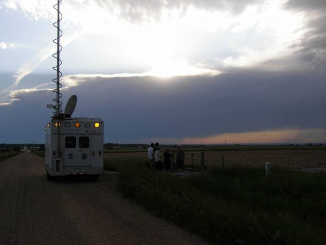 VORTEX2 tornado investigators stopping at sunset Picture