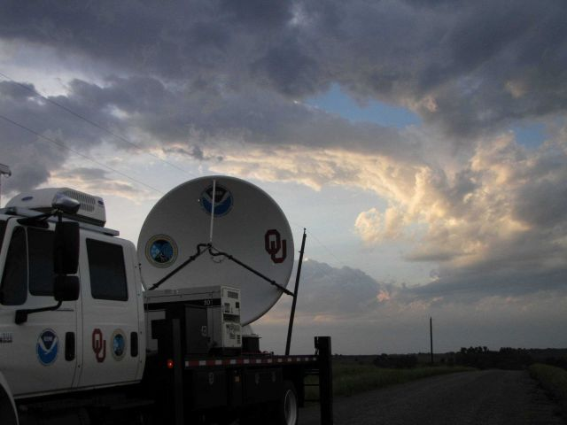 NOAA/NSSL X-Pol Mobile radar after the storm has passed over Picture