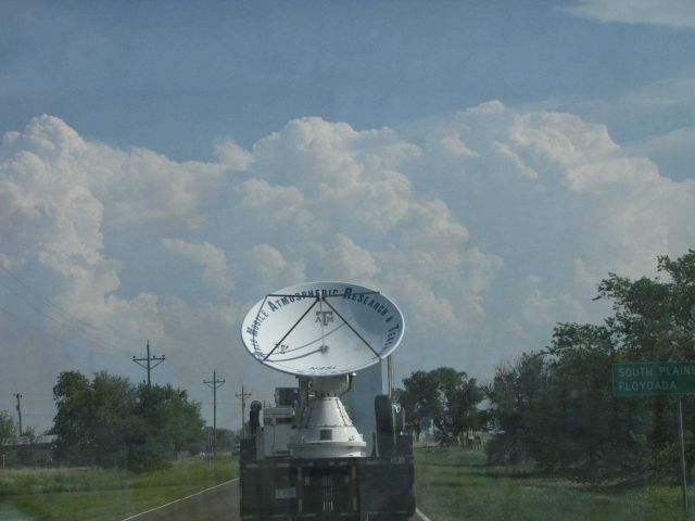 SMART-R radar heading toward the storms outside of Childress, Texas. Picture