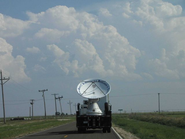 Shared Mobile Atmospheric Research and Teaching Radar (SMART-R) sends out a radio wave with a 5.5cm wavelength used to detect precipitation Picture
