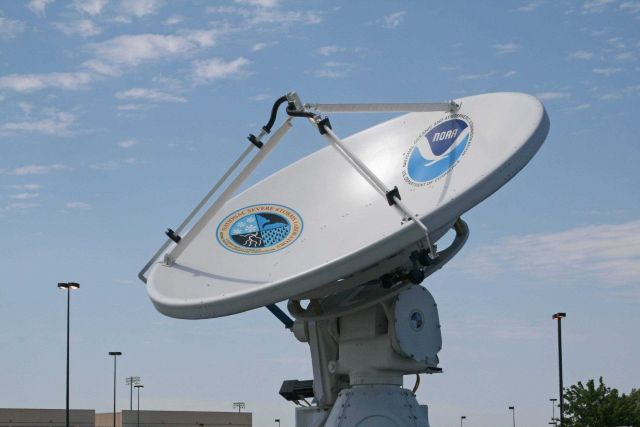 NO-XP radar antenna prior to operations in VORTEX2 Picture
