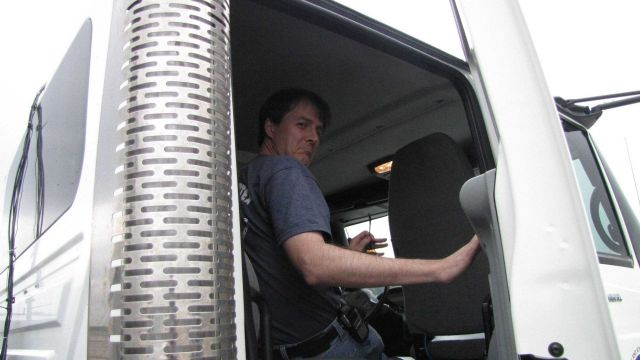NSSL's Ted Mansell in the N)-XP radar truck. Picture