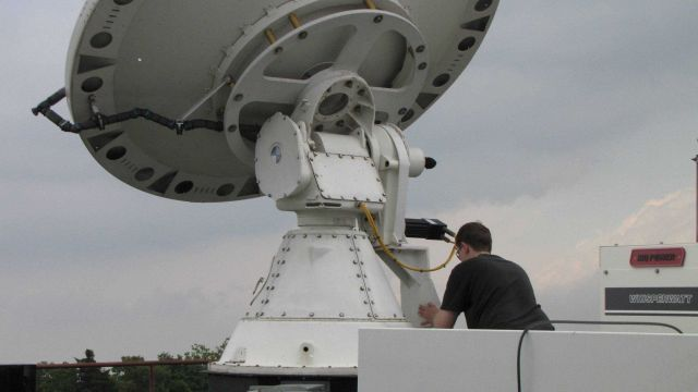 NO-XP radar makes the first deployment of VORTEX II 2010 operations. Picture