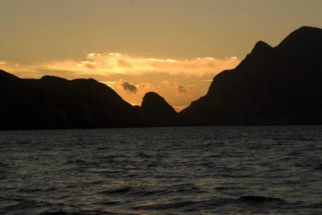 Sunset in the Channel Islands. Picture