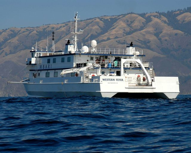 The Monterey Bay Aquarium Research Institute research vessel WESTERN FLYER on the search for the airship MACON expedition. Picture