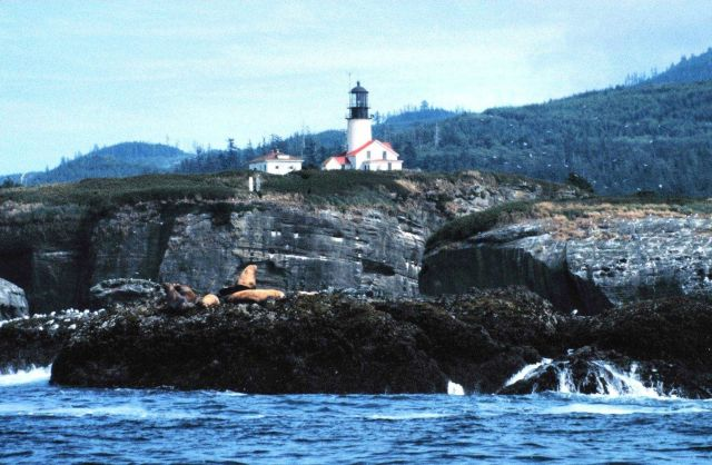 Tatoosh Lighthouse from offshore. Picture