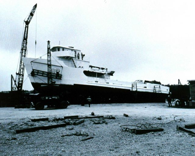 Coast and Geodetic Survey Ship FERREL in shipyard. Picture