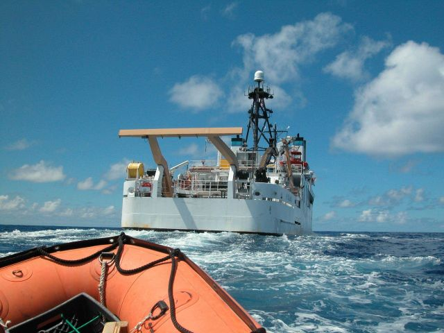 Looking to stern of NOAA Ship HI'IALAKAI from small boat Picture