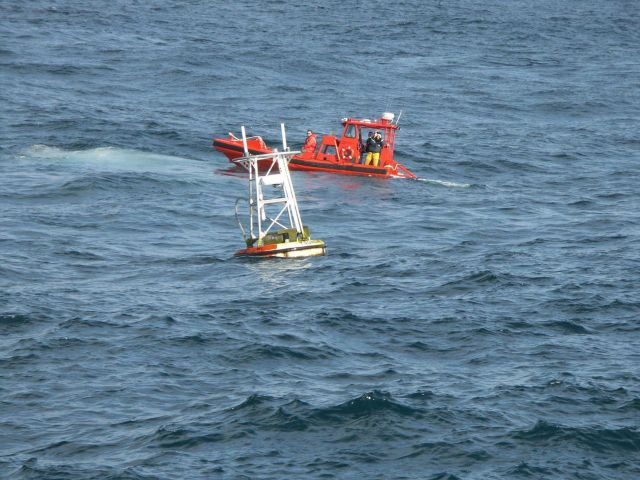 Tsunami warning buoy recovery Picture