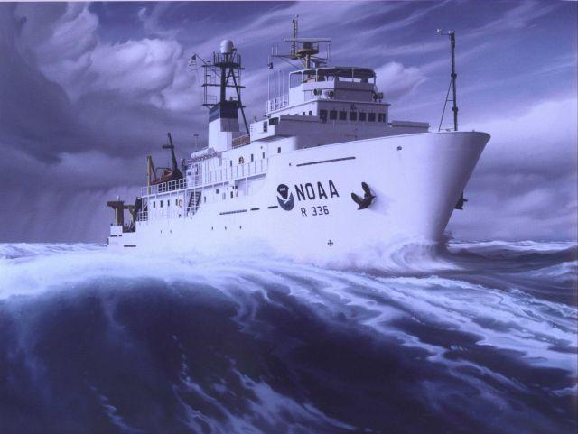 Painting of NOAA Ship GORDON GUNTER Picture