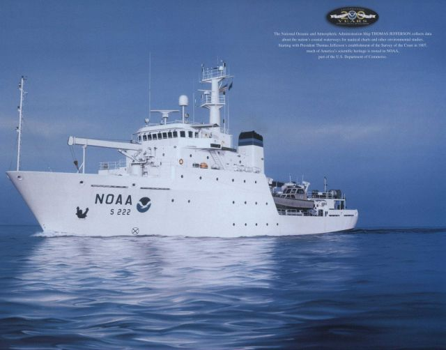 Painting of NOAA Ship THOMAS JEFFERESON with 200th Anniversary logo Picture