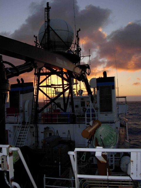Literally sailing into the sunset on the NOAA Ship KA'IMIMOANA Picture