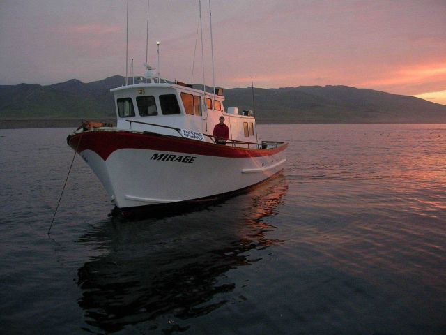 Charter research F/V Mirage at sunrise at Pt Picture