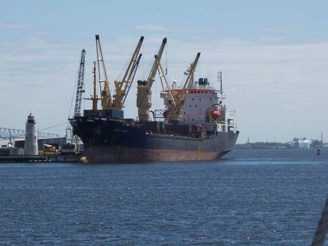 A general cargo vessel ATLANTIC TRADER at Lazaretto Point Picture