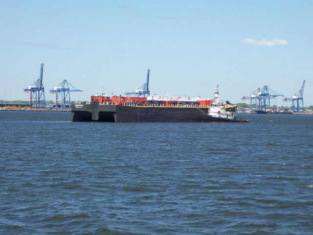 A tug and barge in Baltimore Harbor Picture