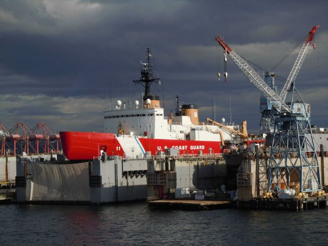 USCGC POLAR SEA in shipyard Picture