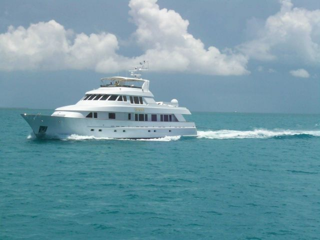 The yacht PHAEDRA off of Key West. Picture