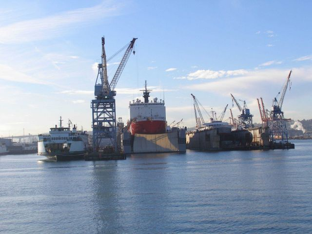 Todd shipyard in Seattle. Picture