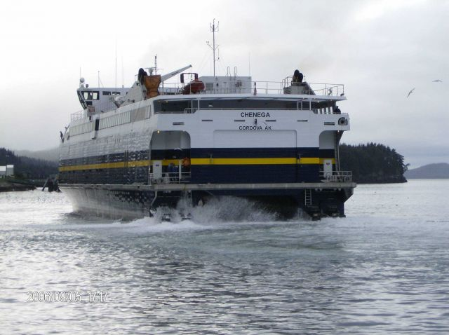 Alaska ferry CHENEGA at Cordova. Picture