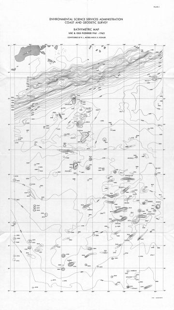 Map from the first systematic ocean mapping surveys Picture