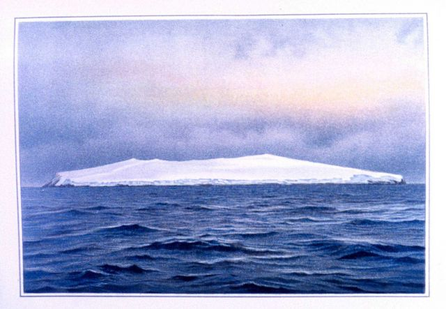 Bouvet Island, southeast side, as seen at sunrise, eight miles distant, November 26, 1898 Picture