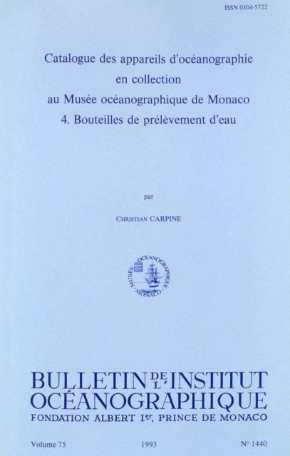 Catalog of Oceanographic Equipment in the Collection of the Oceanographic Museum at Monaco Picture