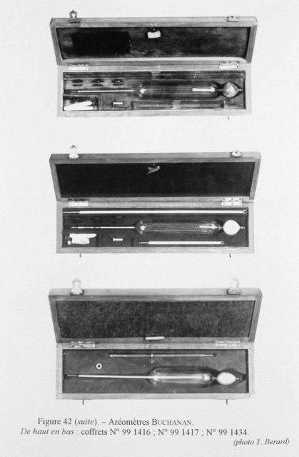 Figure 42 (continued.) Various Buchanan hydrometers with associated apparatus in their instrument cases. Picture