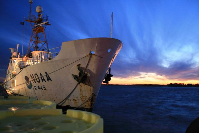NOAA Ship DELAWARE II in the sunset of its career Picture