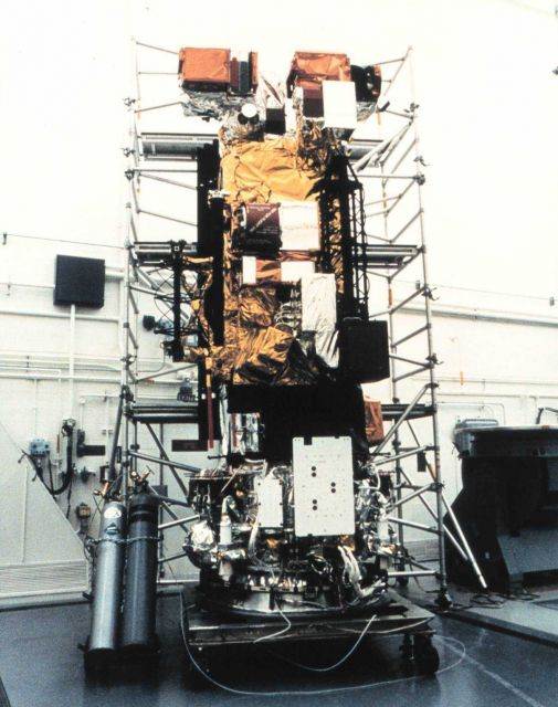 Meteorological satellite NOAA K being readied for launch. Picture