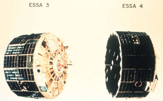 ESSA 3 and ESSA 4, satellites of the TIROS Operational System. Picture