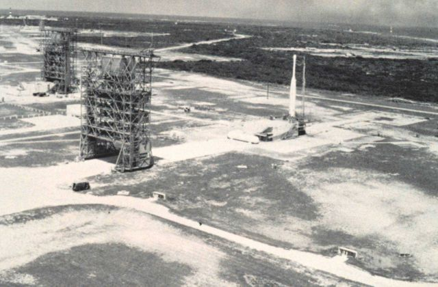 Complex Number 17 at Cape Canaveral where TIROS-carrying Thor-Delta rockets were launched. Picture