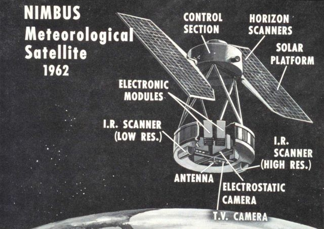 Artist's conception of NIMBUS meteorological satellite system Picture