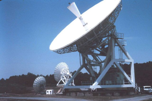 13-meter GOES C antenna. Picture
