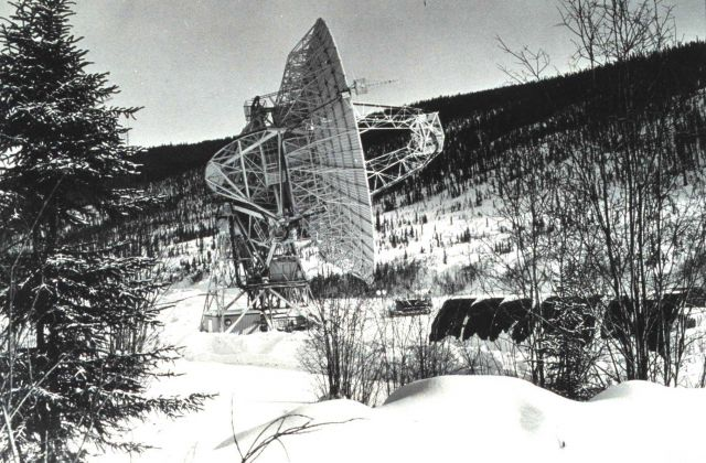 The large Command and Data Acquisition Station antenna at Gillmore Creek Picture