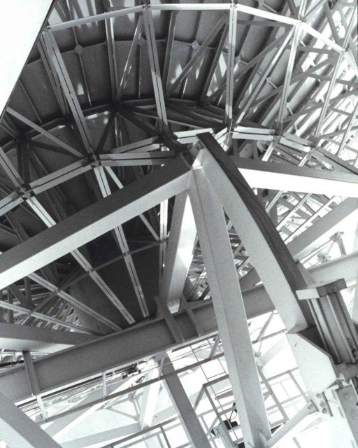 Part of the supporting structure of a large satellite antenna Picture