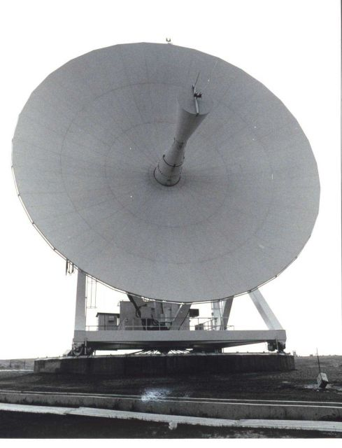 A parabolic antenna at Wallops Island. Picture