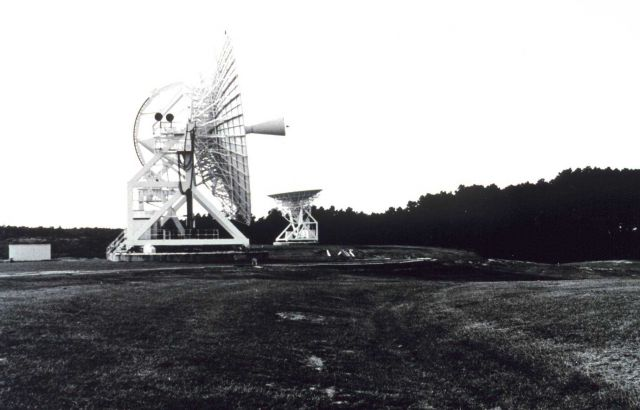 Parabolic antennas at Wallops Island. Picture