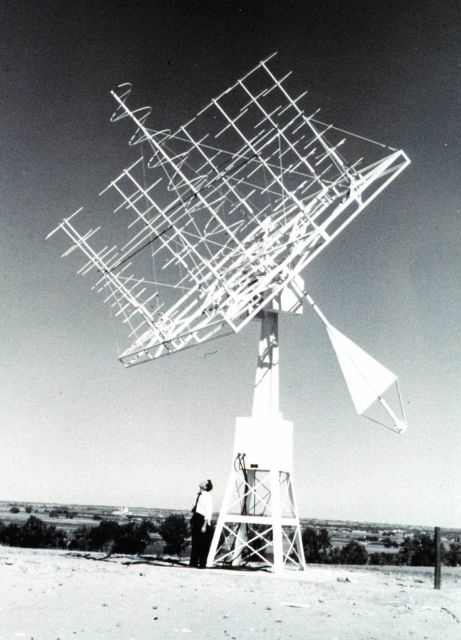 A specialized satellite data receiving antenna. Picture