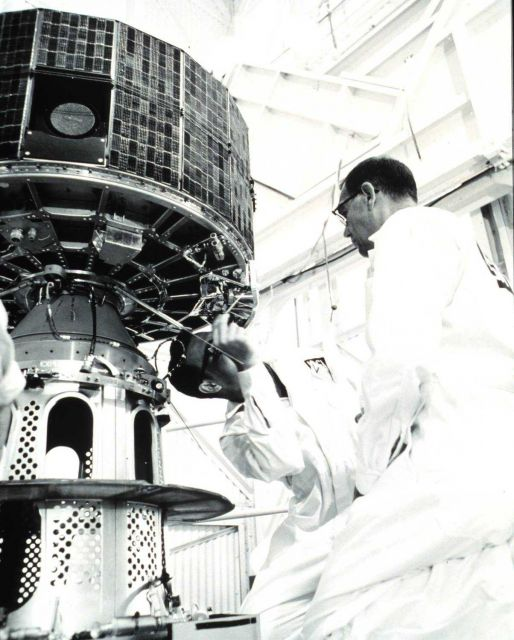 Working on ESSA-7, designated TOS-E prior to launch Picture