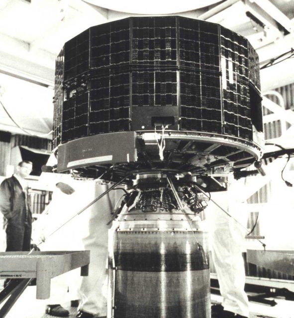 ESSA-9, designated TOS-G prior to launch, shown during final checkout prior to being placed aboard launch vehicle Picture