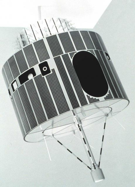 An early GOES satellite. Picture