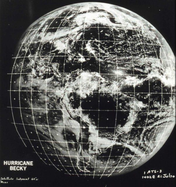 Applications Technology Satellite 3 (ATS-3) image of the western hemisphere Picture