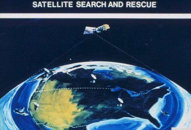 Diagram of Satellite Search and Rescue (SARSAT) concept. Picture