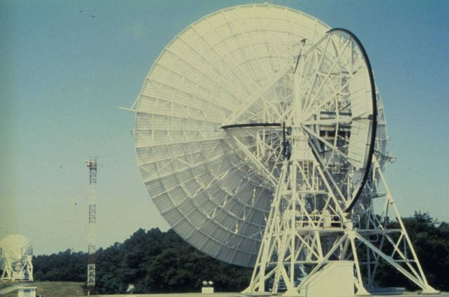 Satellite signal receiving station at Wallops Island, Virginia. Picture