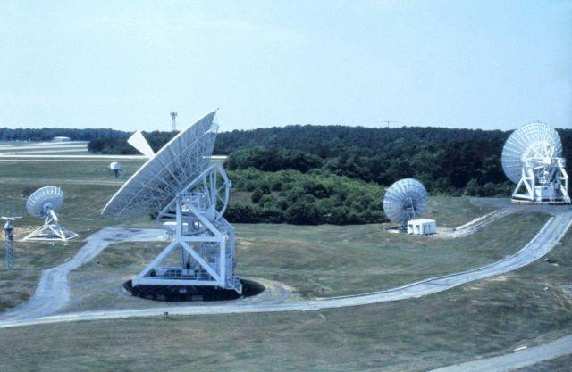 Satellite antennas at Wallops Island. Picture